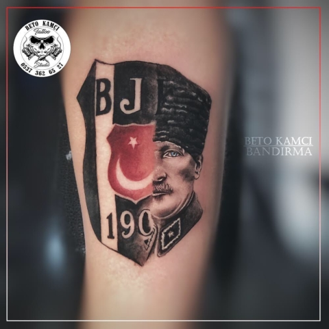 Atatürk & Beşiktaş Dövmesi