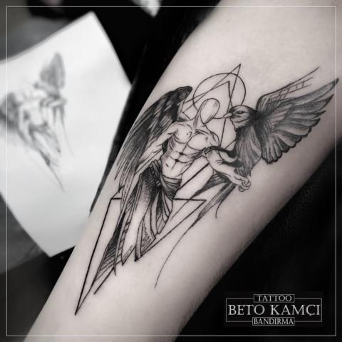 Melek & Kuş Dövmesi - Angel & Bird Tattoo