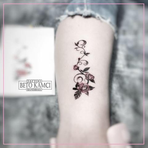 Çiçek Dövmesi - Flower Tattoo