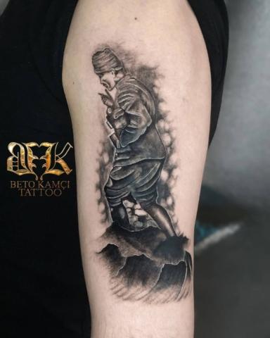 Atatürk Dövmesi - Atatürk Tattoo