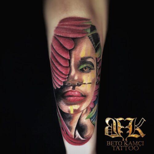 Kadın Yüzü Dövmesi - Woman Face Tattoo