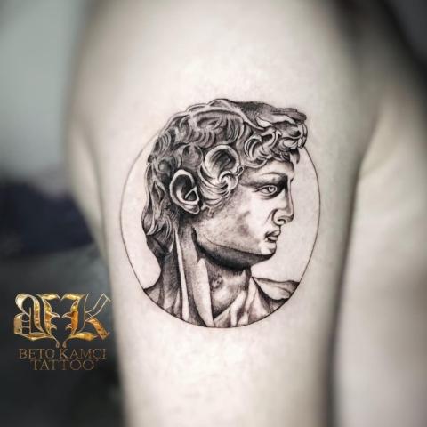 Davut Heykeli Dövmesi - Statue of David Tattoo